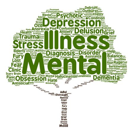 withdrawal: Vector conceptual mental illness disorder management or therapy abstract tree word cloud isolated