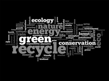 Vector Concept Or Conceptual Abstract Green Ecology Or Energy
