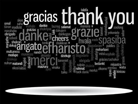 Vector konzeptionelle danke Wort-Wolke für Business oder Thanksgiving Day isoliert Standard-Bild - 73427951