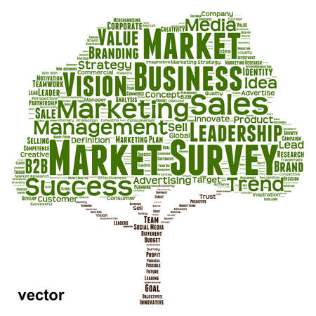 consumer: Vector Conceptual business leadership or media word cloud isolated on background