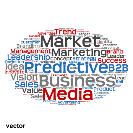 tagcloud: Vector conceptual business marketing word cloud concept isolated on background