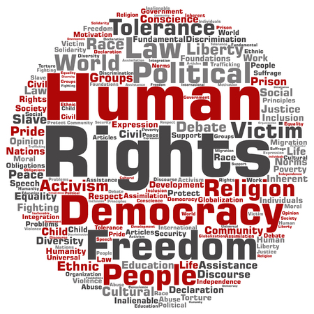 jail: Concept or conceptual human rights political freedom or democracy word cloud isolated on background