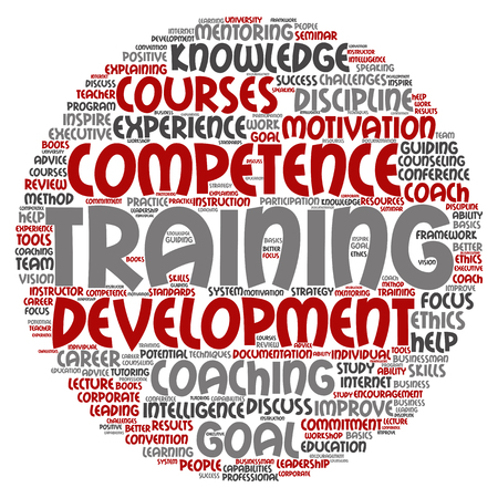 inspiring: Concept or conceptual training, coaching or learning, study word cloud isolated on background