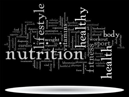cultivate: Vector conceptual health or diet word cloud concept isolated on background Illustration