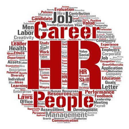 Konzept HR Oder Human Resources Management Abstrakte Runde Wortwolke ...