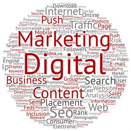 internet search: Concept or conceptual digital marketing seo or traffic abstract word cloud isolated on background