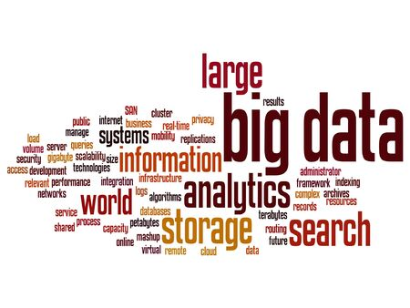 internet search: Vector concept or conceptual big data large size storage systems word cloud isolated on background