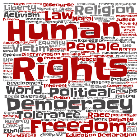 Concept or conceptual human rights political freedom