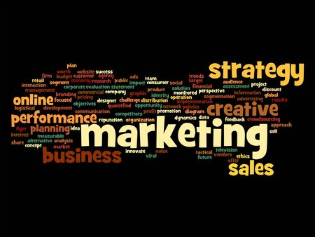 evaluate: Vector concept or conceptual business marketing target word cloud isolated on background
