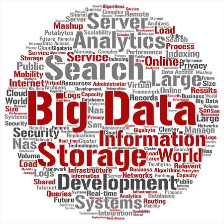 concept de vecteur ou conceptuel big data big data storage data cloud cloud
