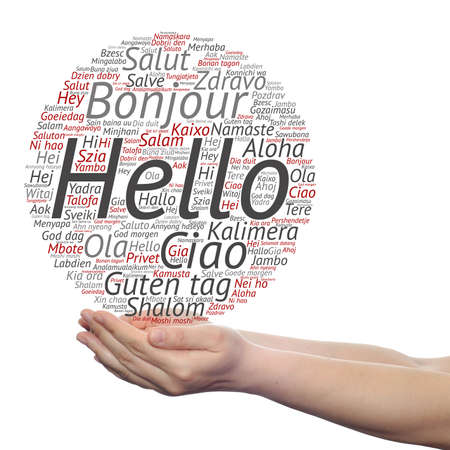 German english spanish stock photos royalty free business images concept or conceptual abstract hello or greeting international word cloud on hands in different languages m4hsunfo