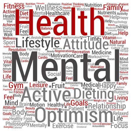Concept conceptuele oude senior gezondheid, zorg of ouderen vierkante woordwolk geïsoleerd op achtergrond, metafoor voor gezondheidszorg, ziekte, geneeskunde, bijstand, hulp, behandeling, actieve of gelukkige
