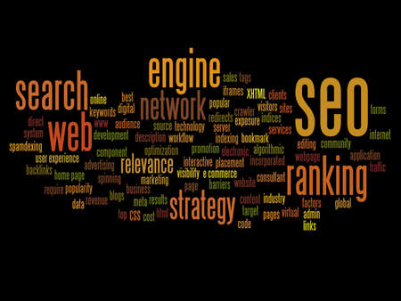keywords: Concept or conceptual search engine optimization, seo abstract word cloud isolated