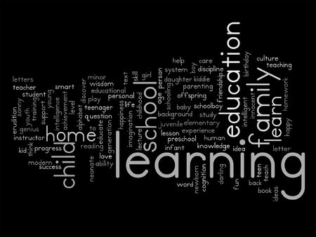Student Life: Vector conceptual education word cloud concept isolated on background