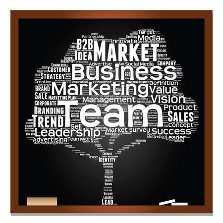 Business word cloud pattern. Illustration