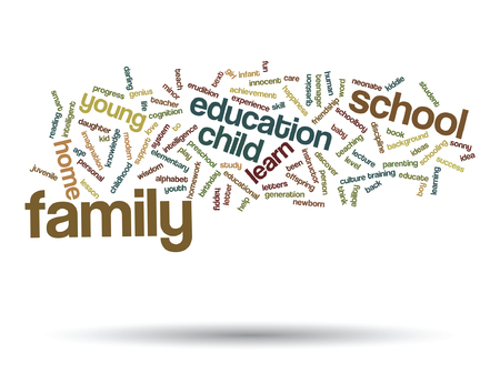 Vector conceptual education word cloud concept isolated on background
