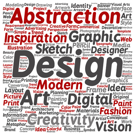 Concept Conceptual Creativity Art Graphic Design Visual Word Cloud Isolated On Background Photo