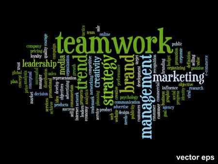 Conceptual business marketing word cloud concept isolated on background Illustration