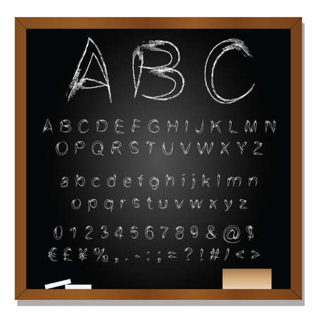 questions: Vector conceptual set or collection of white handwritten, sketch or scribble fonts isolated on blackboard background