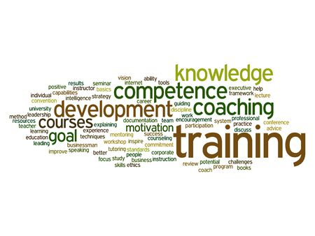 potential: Concept or conceptual training, coaching or learning, study word cloud isolated on background