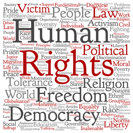 Human rights political freedom Illustration
