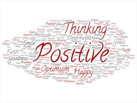 Positive thinking, happy strong attitude