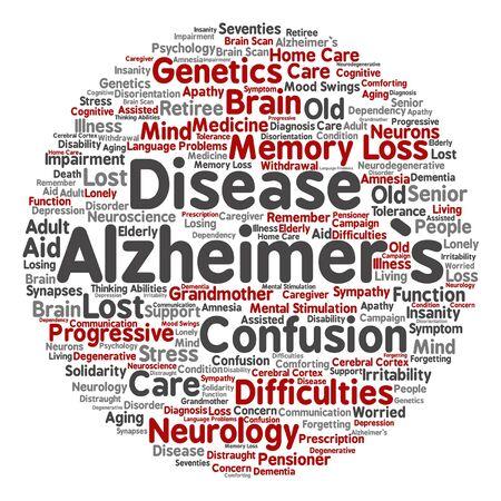 delusional: Alzheimer`s disease symptoms