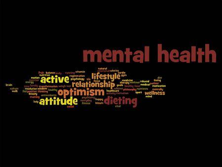Geestelijke gezondheid abstracte woordwolk