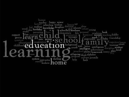 education concept: Vector conceptual education word cloud concept isolated on background