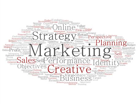 planning: Concept or conceptual business marketing target word cloud isolated on background Stock Photo
