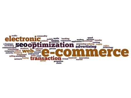 E-commerce electronic sale word cloud