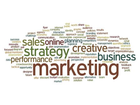 planning: Vector concept or conceptual business marketing target word cloud isolated on background