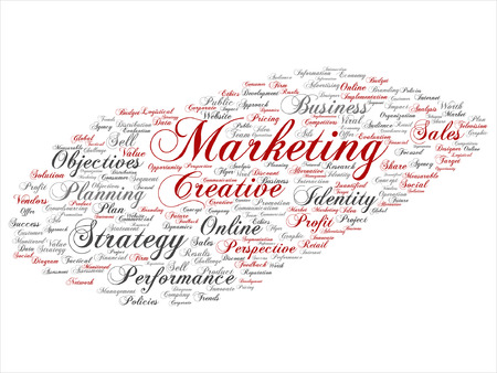 planning: Business marketing target word cloud