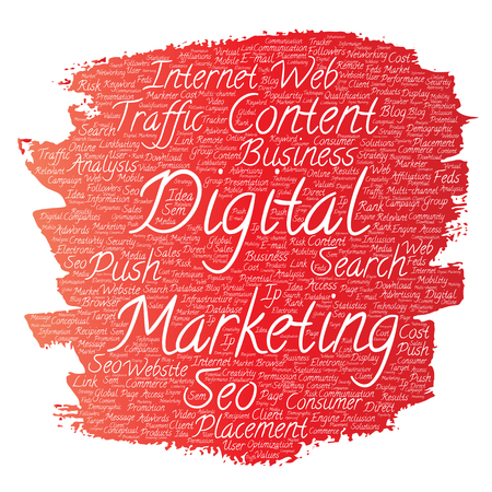Digital marketing word cloud.