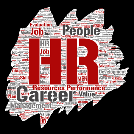 Human resources word cloud. Illustration