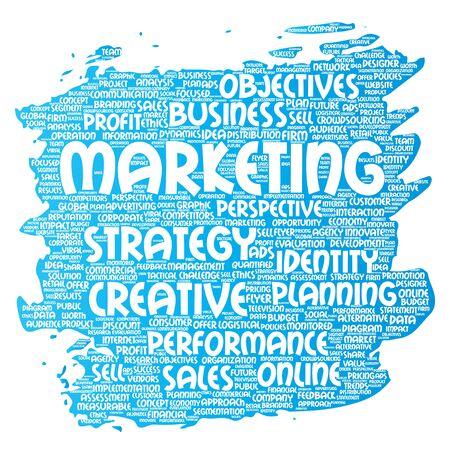 Development business marketing target paint brush word cloud