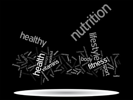 Conceptual health or diet word cloud concept.