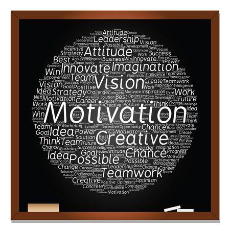 Vector concept or conceptual. Abstract creative business word cloud o black blackboard. Vetores