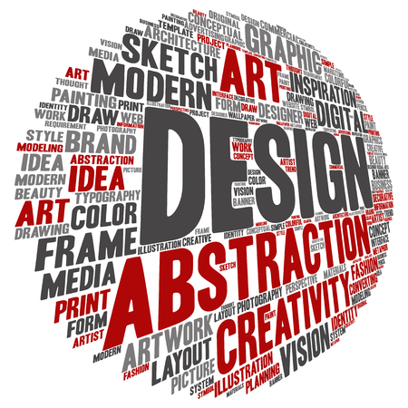 Concept conceptual creativity art graphic design visual word cloud isolated on background