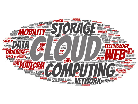 Concept conceptual web cloud computing technology wordcloud isolated