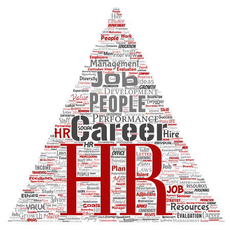 HR word cloud concept.