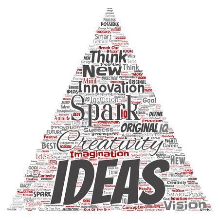 Vector word cloud concept about creative ideas