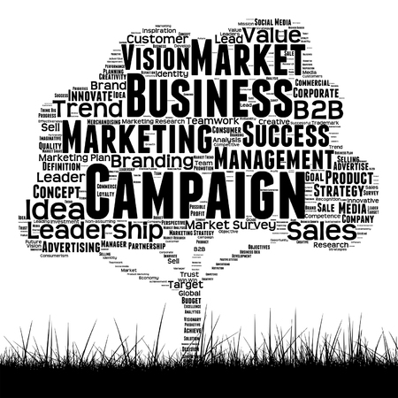 Marketing or business word cloud concept design.