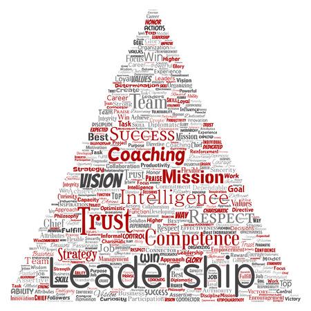 Leadership word cloud concept design.