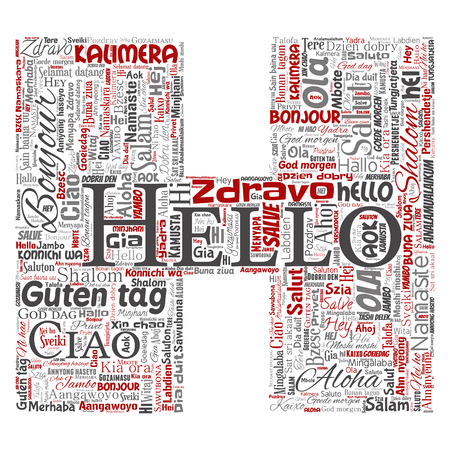 Vector Concept Or Conceptual Letter Font H Hello Or Greeting