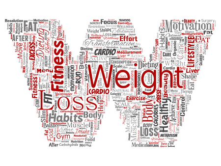Vector conceptual weight loss healthy diet transformation letter font W word cloud isolated background. Collage of fitness motivation lifestyle, before and after workout slim body beauty concept