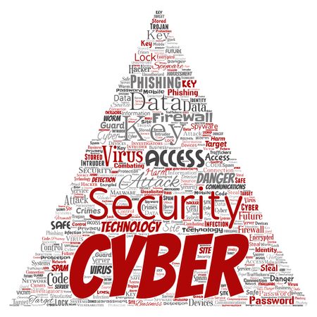 Vector conceptual cyber security online access technology triangle
