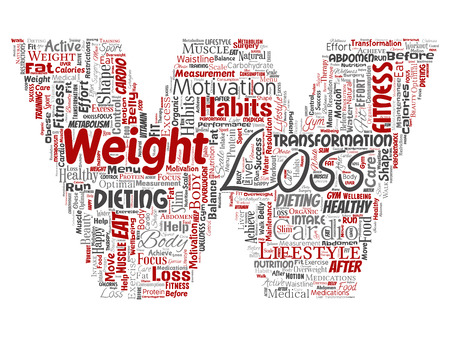 Vector conceptual weight loss healthy diet transformation
