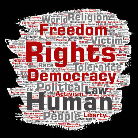 Vector conceptual human rights political freedom Illustration
