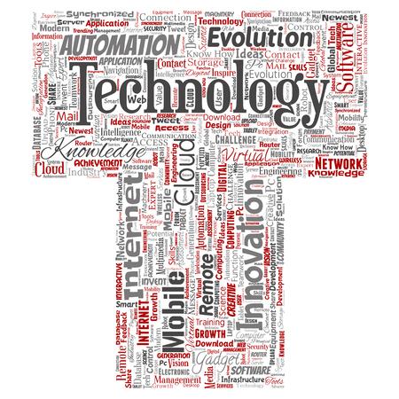 Vector concept or conceptual digital smart technology, media.